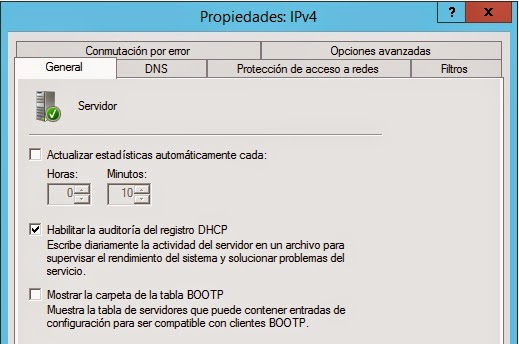 DHCP logs & backup en windows - Catrian